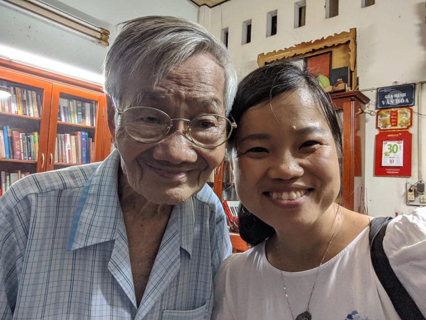 Cụ Trần Nhật Thứ và Hannah Ánh Nguyệt