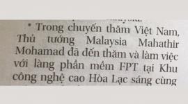 """Thủ tướng Malaysia Mahathir đến thăm """"Làng phần mềm FPT"""""""