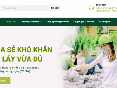 Dự án Chợ nghĩa tình được phối hợp giữa Sở Công Thương - Thành Đoàn Thành phố Hồ Chí Minh và Tổ chức Giáo dục trực tuyến FUNIX (thuộc tập đoàn FPT).