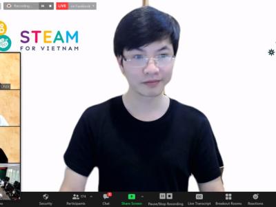 """Tại Hội thảo """"Đào tạo nhân lực công nghệ cho Cách mạng 4.0"""" diễn ra vào ngày 19/8, Founder Steam4VN TS. Trần Việt Hùng khẳng định đào tạo CNTT cho trẻ em Việt Nam từ sớm là giải pháp dài hạn cho bài toán nhân lực CNTT."""